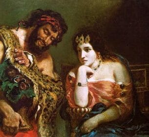 Delacroix, Eugene: Cleopatra and the Peasant