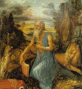 Durer, Albrecht: Saint Jerome in The Wilderness Oil Painting Reproductions