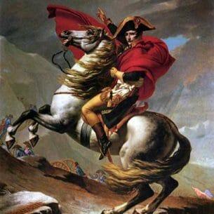 David, Jacques-Louis: Bonaparte Crossing the St.Bernard Pass Oil Painting Reproductions