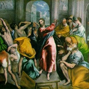 El Greco: The Purification of the Temple Oil Painting Reproductions