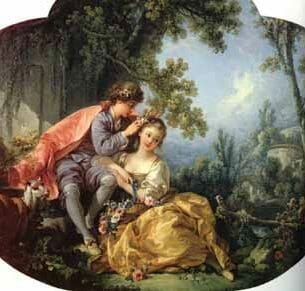 Boucher, Francois (France): The Four Seasons-Spring Oil Painting Reproductions