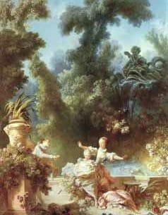 Boucher, Francois (France): The Pursuit Oil Painting Reproductions