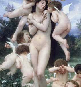 Bouguereau, William(France): Springtime Oil Painting Reproductions