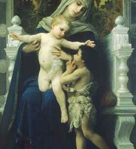 Bouguereau, William(France): The Virgin, Baby Jesus and Saint John the Baptist Oil Painting Reproductions