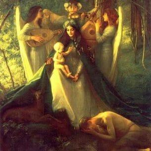 Dagnan-Bouveret, Pascal-Adolphe-Jean(France): Consolatrix Afflictorum Oil Painting Reproductions