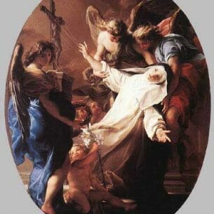 Batoni, Pompeo: The Ecstasy of St Catherine of Siena Oil Painting Reproductions