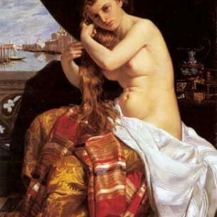 David, Jacques-Louis: Venetian Lady at Her Toilette Oil Painting Reproductions