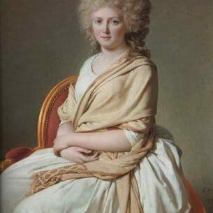 David, Jacques-Louis: Portrait of Anne-Marie-Louise Oil Painting Reproductions