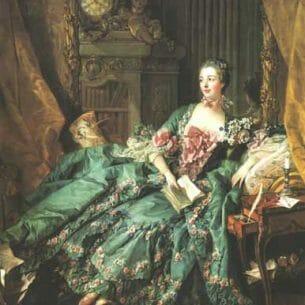 Boucher, Francois(France): The Marquise de Pompadour Oil Painting Reproductions