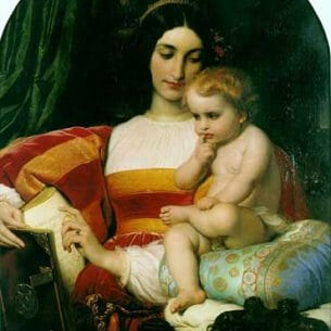 Delaroche, Paul(France): The Childhood of Pico della Mirandola Oil Painting Reproductions