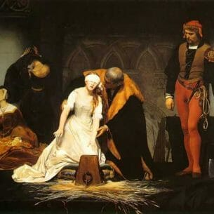 Delaroche, Paul(France): The Execution of Lady Jane Grey Oil Painting Reproductions