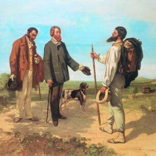 Courbet, Gustave(France): The Meeting Bonjour Monsieur Courbet Oil Painting Reproductions