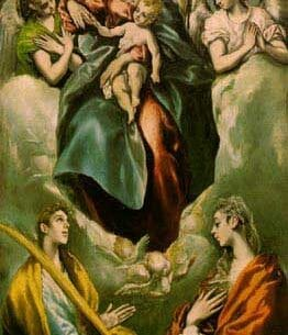 El Greco: Madonna and Child with St. Martina and St. Agnes Oil Painting Reproductions