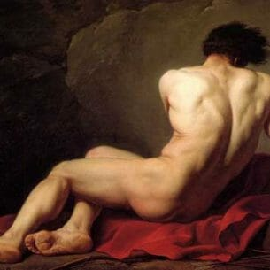 David, Jacques-Louis: Male Nude Oil Painting Reproductions