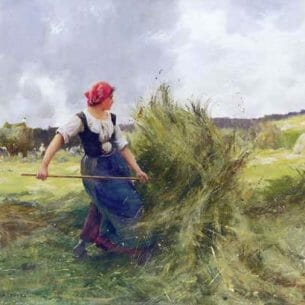 Dupre, Julien(France): Haymaking Oil Painting Reproductions