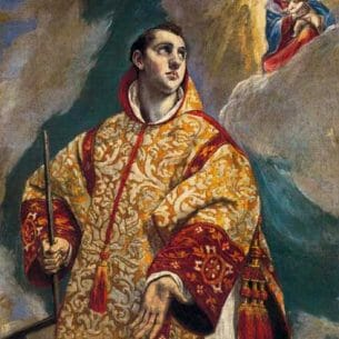 El Greco – Apparition of the Virgin to St Lawrence Oil Painting Reproductions