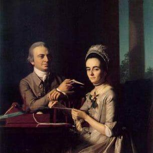 Copley, John Singleton(USA): Mr. and Mrs Thomas Mifflin (Sarah Morris) Oil Painting Reproductions