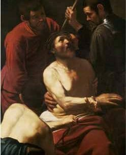 Caravaggio, Michelangelo Merisi da – Christ Crowned by Thorns Oil Painting Reproductions