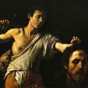 Caravaggio, Michelangelo Merisi da – David with the Head of Goliath Oil Painting Reproductions
