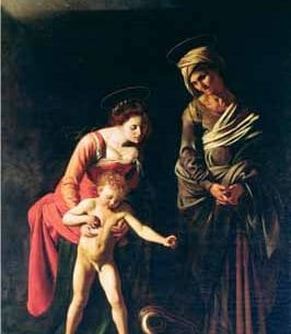 Caravaggio, Michelangelo Merisi da – Madonna and Child with a Serpent Oil Painting Reproductions