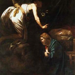 Caravaggio, Michelangelo Merisi da – The Annunciation Oil Painting Reproductions