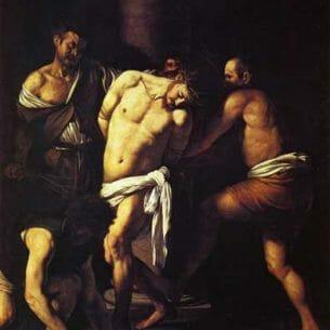 Caravaggio, Michelangelo Merisi da – The Flagellation of Christ Oil Painting Reproductions