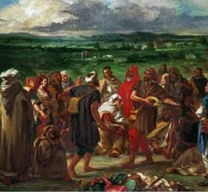 Delacroix, Eugene – Arab Comedeans Oil Painting Reproductions