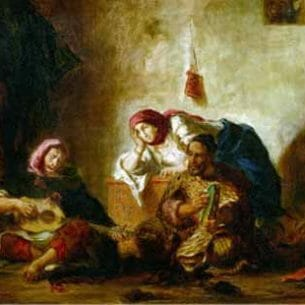 Delacroix, Eugene – Jewish Musicians of Mogador Oil Painting Reproductions