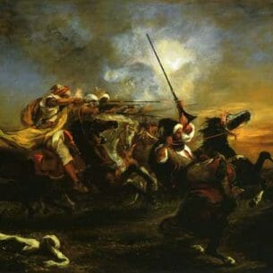 Delacroix, Eugene – Moroccan Military Exercises Oil Painting Reproductions