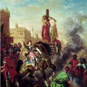 Delacroix, Eugene – Olinda and Sophronia on the Pyre, from Gerusalemme Liberata by Torquato Tasso