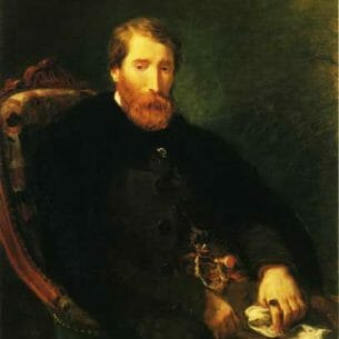 Delacroix, Eugene – Portrait of Alfred Bruyas Oil Painting Reproductions
