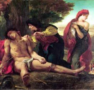 Delacroix, Eugene – St. Sebastian Oil Painting Reproductions