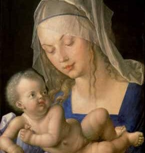 Durer, Albrecht – Virgin and Child Holding a Half-Eaten Pear Oil Painting Reproductions