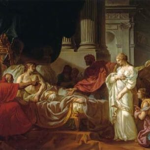 David, Jacques-Louis – Antiochus and Stratonice Oil Painting Reproductions