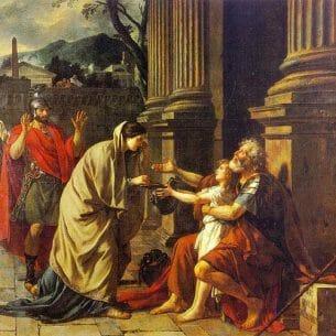 David, Jacques-Louis – Belisarius Oil Painting Reproductions