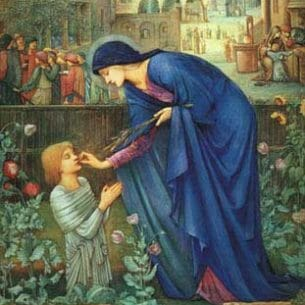 Burne-Jones, Sir Edward Coley (UK): The Prioress' Tale Oil Painting Reproductions