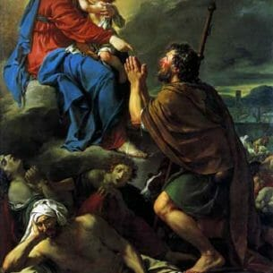 David, Jacques-Louis – St Roch Asking the Virgin Mary to Heal Victims of the Plague Oil Painting Reproductions