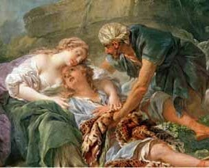 Boucher, Francois – Amintas Brought Back to Life in the Arms of Sylvie Oil Painting Reproductions