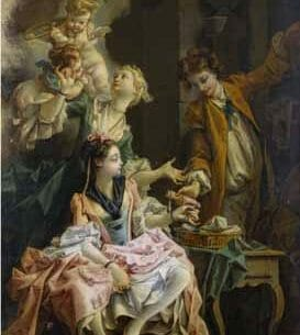 Boucher, Francois – The Amatory Morning, La Galante Matinee Oil Painting Reproductions