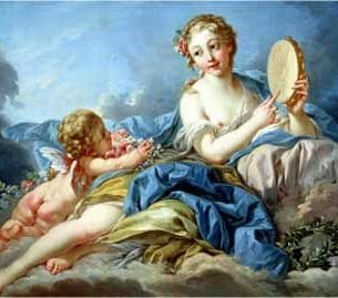 Boucher, Francois – The Muse Terpsichore Oil Painting Reproductions