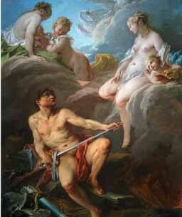 Boucher, Francois – Venus Asks Vulcan, the Husband She Left, to Forge Arms for Reneas, Her Illegitimate Son Oil Painting Reproductions
