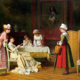 Baugniet, Charles: A Letter of Recommendation Oil Painting Reproductions