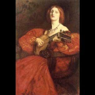 Abbey,Edwin Austin: A Lute Player