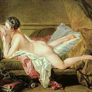 Boucher, Francois(France): Nude on a Sofa(Reclining Girl) Oil Painting Reproductions