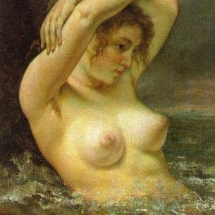 Courbet, Gustave(France): The Woman in the Waves Oil Painting Reproductions