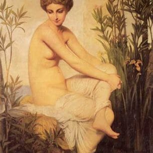 Amaury-Duval [Pineu-Duval], Eugene-Emmanuel: Ancient Bather Oil Painting Reproductions