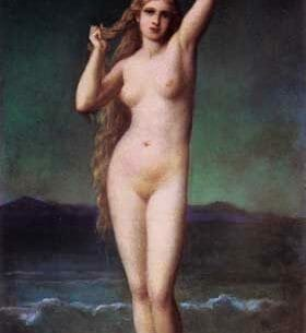 Amaury-Duval [Pineu-Duval], Eugene-Emmanuel: The Bather Oil Painting Reproductions