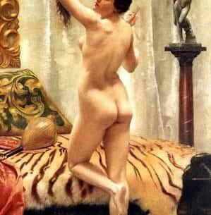 Browning, Robert Wiedeman Barrett (Pen)(UK): Before a Mirror Oil Painting Reproductions