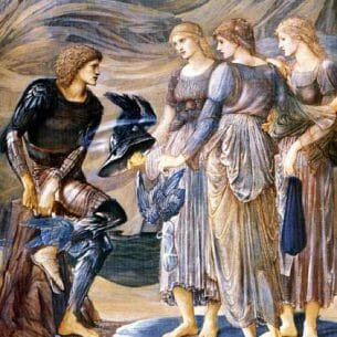 Burne-Jones, Sir Edward Coley(UK): The Perseus Series: Perseus and the Sea Nymphs