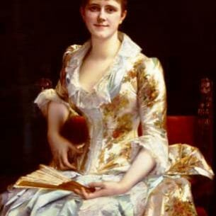 Cabanel, Alexandre: Portrait Of Young Lady Oil Painting Reproductions